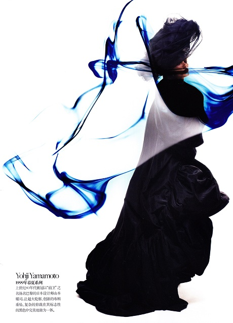 Edita Vikeviciute photographed by Sølve Sundsbø in Yohji Yamamoto for Vogue China SS11 Collections Issue on Exshoesme.com