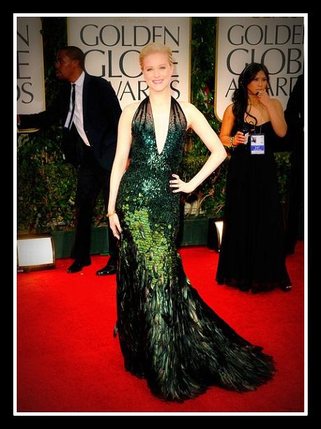 Evan Rachel Wood in Gucci Première at the 2012 Golden Globe Awards on Exshoesme.com