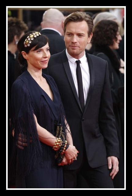 Ewan McGregor with wife Eve Mavrakis in multiple bracelets at the 2012 Golden Globe Awards on Exshoesme.com