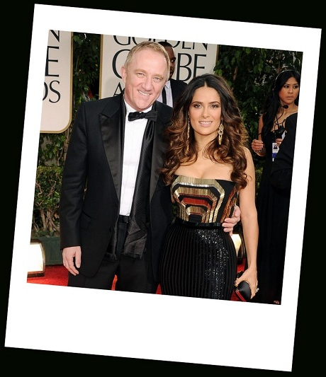 François-Henri-Pinault-and-Salma-Hayek-in-dangly-earrings-at-the-2012-Golden-Globe-Awards-on-Exshoesme.com