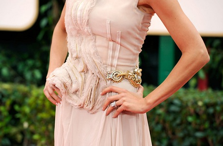 Giuliana Rancic in Basil Soda - Detail  at the 2012 Golden Globe Awards on Exshoesme.com