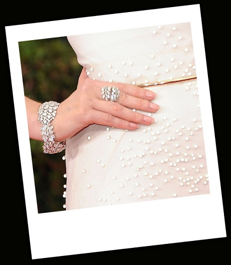 Jessica Chastain's jewellery at the 2012 Golden Globe Awards on Exshoesme.com
