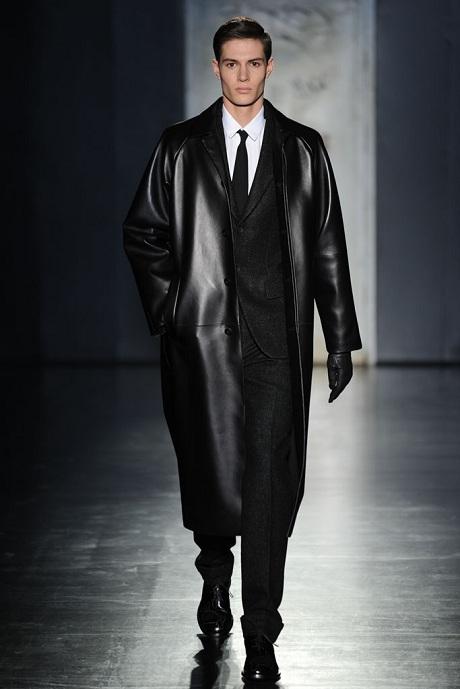 Jil Sander FW12 Menswear Leather Overcoat and Wool Suit on Exshoesme.com