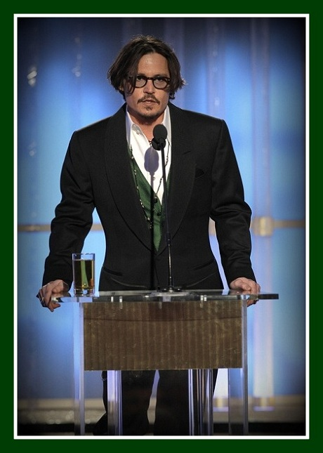 Johnny Depp at the 2012 Golden Globe Awards on Exshoesme