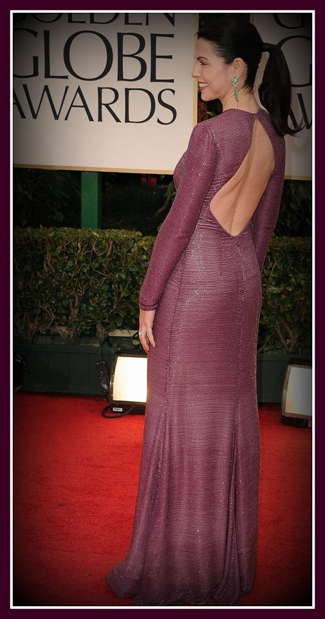 Julianna Margulies in Naeem Khan - back view at the 2012 Golden Globe Awards on Exshoesme.com