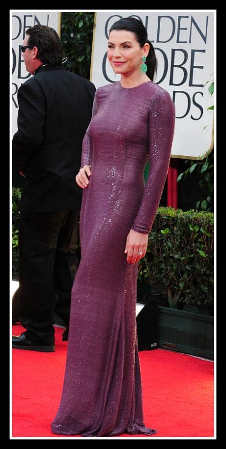 Julianna Margulies in Naeem Khan at the 2012 Golden Globe Awards on Exshoesme.com