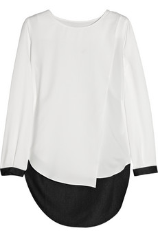 Karl Lagerfeld for Net-a-Porter Batya wrap-effect crepe top on Exshoesme.com