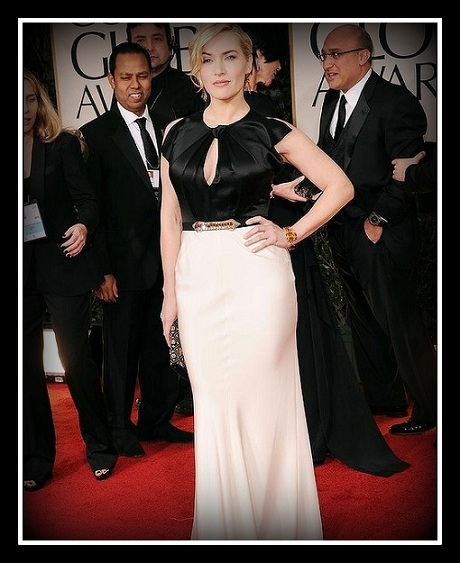 Kate Winslet in Jenny Packham  at the 2012 Golden Globe Awards on Exshoesme.com