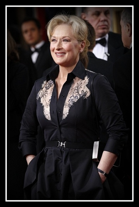 Meryl Streep at the 2012 Golden Globe Awards on Exshoesme.com