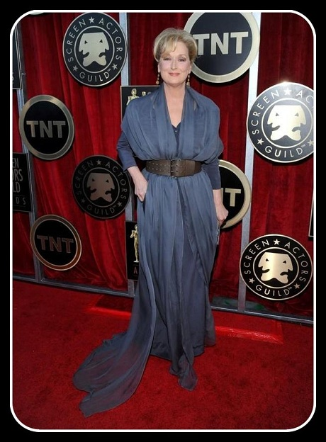 Meryl Streep in Vivienne Westwood at the 2012 SAG Awards on Exshoesme.com