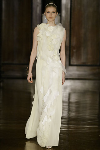 Rodarte FW06 Pale Gown with Overlay on Exshoesme.com