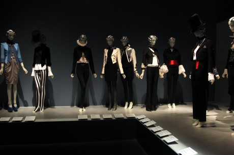 The Dandyism display 2 at the Daphne Guinness Exhibit at the Museum at FIT on Exshoesme.com