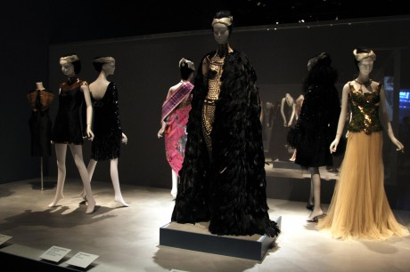 The Sparkle display at the Daphne Guinness Exhibit at the Museum at FIT on Exshoesme.com