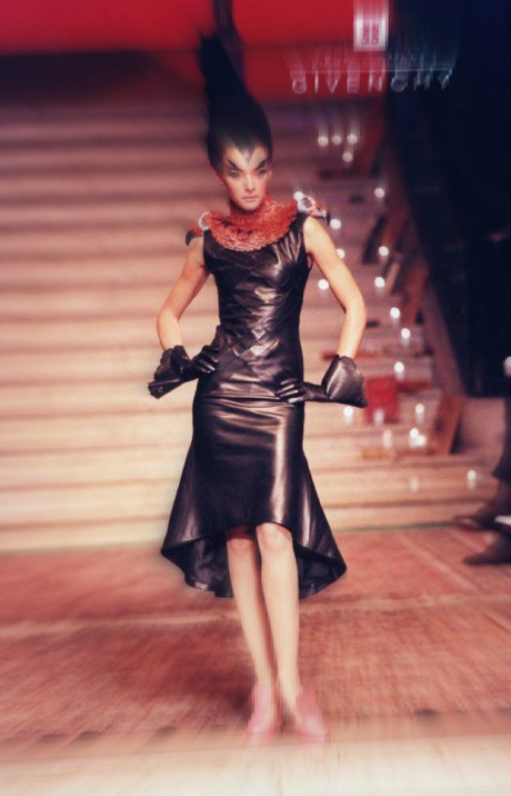 Alexander McQueen for Givenchy Haute Couture FW97 Leather Dress on Exshoesme.com