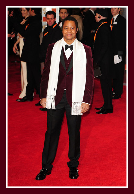 Cuba Gooding Jr. at the 2012 BAFTA Awards on Exshoesme.com