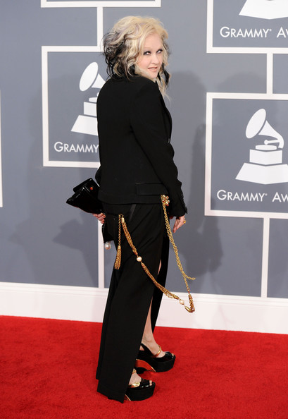 Cyndi Lauper at the 2012 Grammy Awards on Exshoesme.com