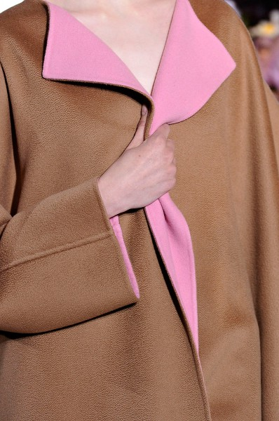 Jil Sander FW12 Brown Coat with Pink Lapels on Exshoesme.com