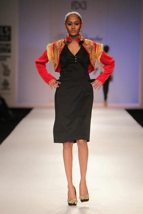 Preeti Chandra AW12 Red Band Bolero on Exshoesme.com