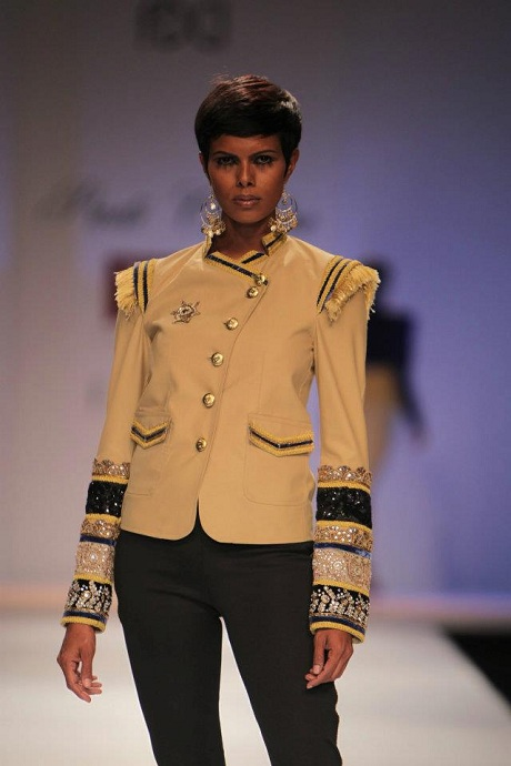 Preeti Chandra AW12 Tan Band Jacket on Exshoesme.com