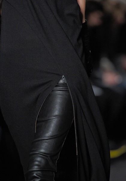 Ann Demeulemeester FW12 Leather Pants and Zippered Tunic on Exshoesme.com
