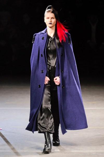 Yohji Yamamoto FW12 Electric Blue Cape Coat on Exshoesme.com