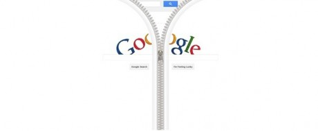 Google Zipper Doodle - Partially Open on Exshoesme.com