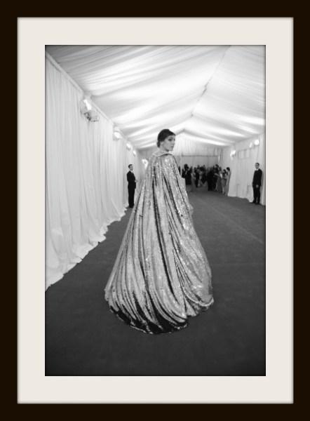 11.  Bianca Brandolini D'Adda in Gold Dolce and Gabbana Cape at the Metropolitan Museum of Art Gala 2012 on Exshoesme.com