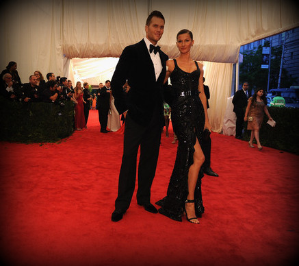 2. Tom Brady and Gisele Bundchen in Givenchy Haute Couture at the Metropolitan Museum of Art Gala 2012 on Exshoesme.com