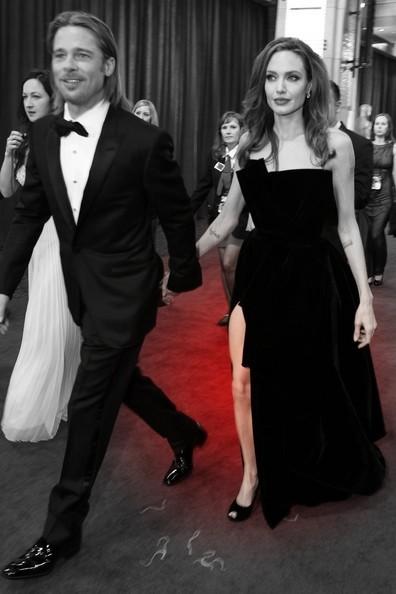 3. Brad Pitt and Angelina Jolie at the 2012 Oscars on Exshoesme.com