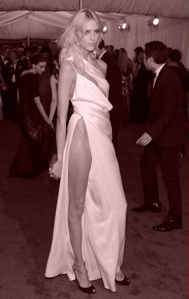 4. Anja Rubik in Anthony Vaccarello at the Metropolitan Museum of Art Gala 2012 on Exshoesme.com