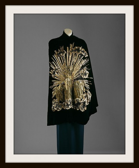 9. Apollo of Versailles Schiaparelli Cape in the collection of the Metropolitan Museum of Art on Exshoesme.com