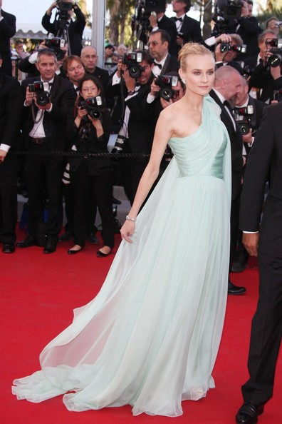 Diane Kruger in Giambattista Valli Haute Couture at the  Opening Ceremony of the  Cannes Film Festival on May 16 2012 on Exshoesme.com Photo PCN
