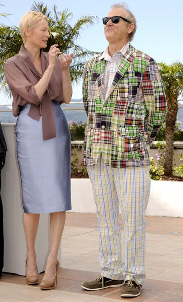 Tilda Swinton and Bill Murray pose at Moonrise Kingdom Photo Call at Cannes Film Festival May 16 2012 on Exshoesme.com.