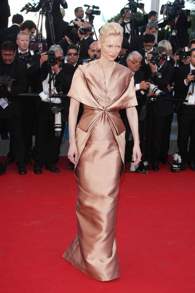 Tilda Swinton at Moonrise Kingdom Opening Ceremony of Cannes Film Festival May 16 2012 on Exshoesme.com.