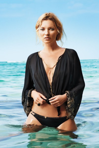 Kate Moss in Salvatore Ferragamo top photographed by Terry Richardson for Harper's Bazaar US June 2012 on Exshoesme.com