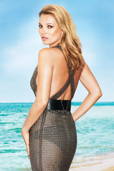 Kate Moss in YSL Dress photographed by Terry Richardson for Harper's Bazaar US June 2012 on Exshoesme.com