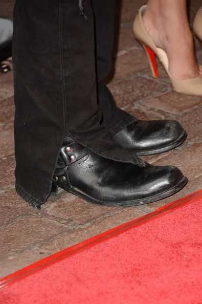 Johnny Depp in motorcycle boots at the West of Memphis premiere at The Toronto International Film Festival 2012 on Exshoesme.com