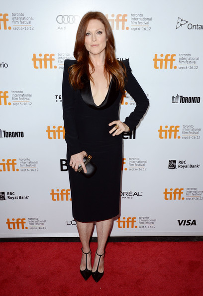 Julianne Moore in Alexander McQueen dress and Louboutin Stilettos at the What Maisie Knew Premiere at the Toronto International Film Festival 2012 on Exshoesme.com (Mark Davis)