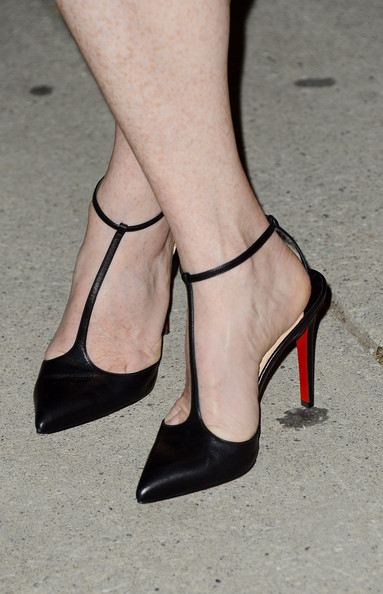 Julianne Moore in T-Strap Louboutin Heels at the  What Maisie Knew Premiere at the Toronto International Film Festival 2012 on Exshoesme.com