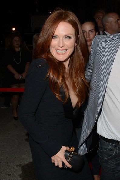 Julianne Moore wearing Alexander McQueen dress and skull clutch at the What Maisie Knew Premiere at the Toronto International Film Festival 2012 on Exshoesme.com (Jason Merritt)