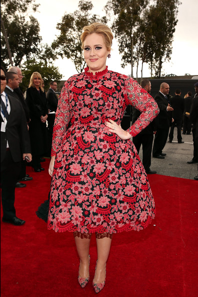 Adele in Valentino Couture at the 2013 Grammy Awards on Exshoesme.com. Photo by Christopher Polk Getty Images North America
