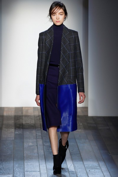 Victoria Beckham FW13 Electri Blue Accent Coat on Exshoesme.com