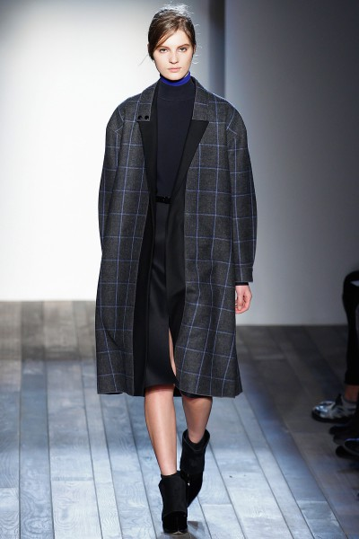 Victoria Beckham FW13 voluminous check coat on Exshoesme.com