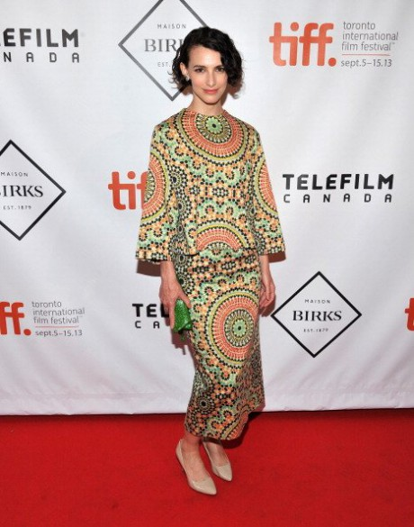 9.Liane Balaban in Lucian Matis at Birks Women in Film party at the 2013 Toronto International Film Festival #TIFF13 on Exshoesme.com. Jason Merritt photo