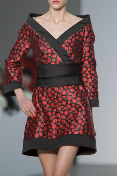 L'Wren Scott SS14 black and red floral dress on Exshoesme.com