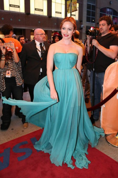 Olimpia Melinte in Maria Lucia Hohan at the premiere of Cannibal at the 2013 Toronto International Film Festival #TIFF13 on Exshoesme.com Kayla Rocca Toronto Life photo