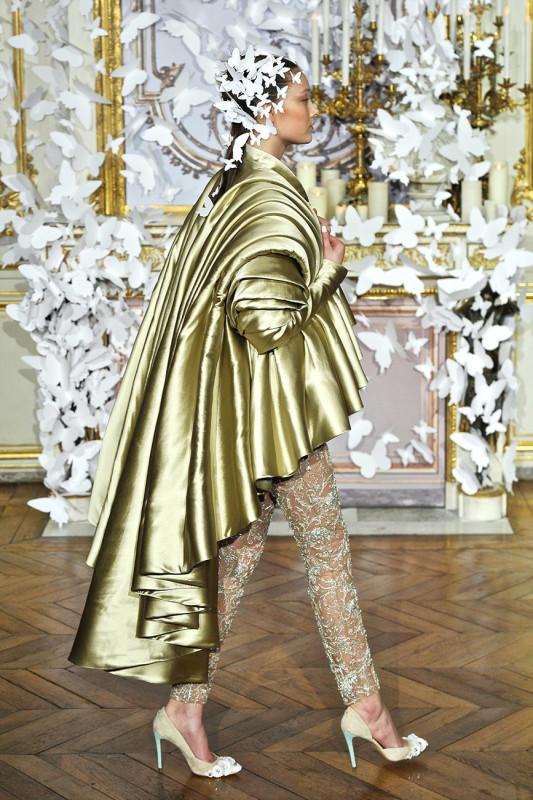 Alexis Mabille Spring 2014 Haute Couture Golden Jacket On Exshoesm.com