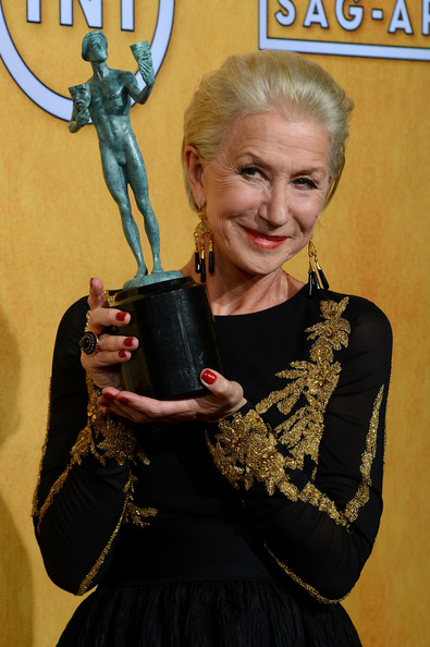 Helen Mirren at the 2014 SAG Awards on Exshoesme.com. Ethan Miller Getty photo