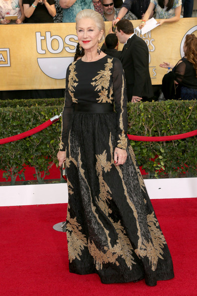 Helen Mirren in Escada at the 2014 SAG Awards on Exshoesme.com. Frederick M. Brown photo