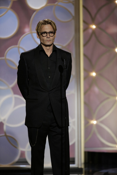 Johnny Depp at the 2014 Golden Globe Awards on Exshoesme.com.